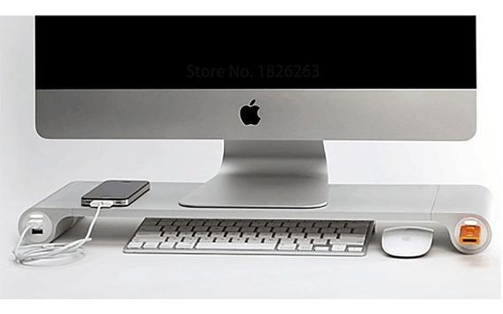 Suporte Usb Alumínio Para Monitor Notebook iMac Macbook