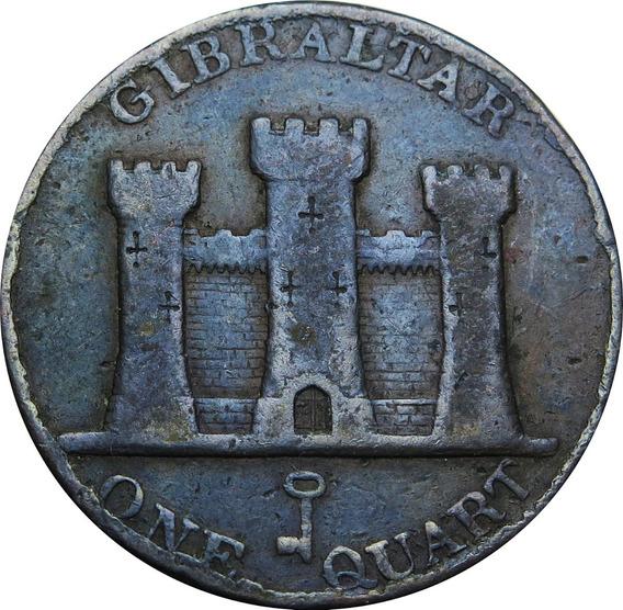 .: Gibraltar 1842 One Quart - Rara :.