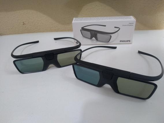 Par Óculos 3d Ativo Philips Pta519