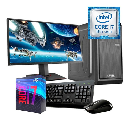 Imagen 1 de 5 de Pc Escritorio Computadora I7 9na 8gb Ssd 240gb Wifi Monitor
