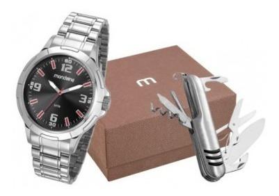 Kit Relógio Masculino Mondaine Prata 83397g0mvne2k Canivete