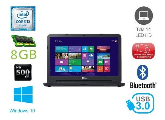 Notebook Dell Latitude 3440 I3 8gb 500gb Win 10 (mostruario)