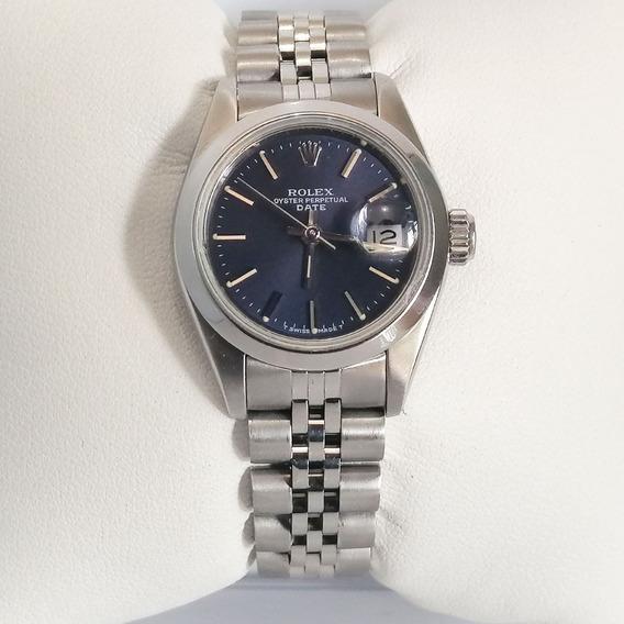 Reloj Dama Rolex Oyster Perpetual Date 69180 Original