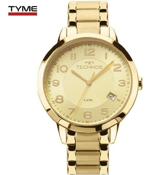 Relógio Technos Feminino Dourado 2315acm/4x