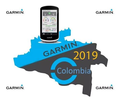 Imagen 1 de 2 de Mapa Garmin Colombia 2019 Bicicleta Edge Servicio Instalacio