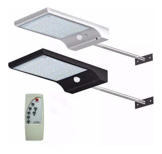 Foco Solar Exterior Panel Con Sensor Y Soporte 48 Led