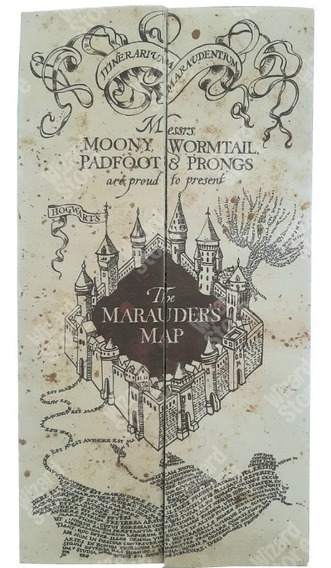 Mapa Merodeador 130 Cm X 28.5 - Harry Potter