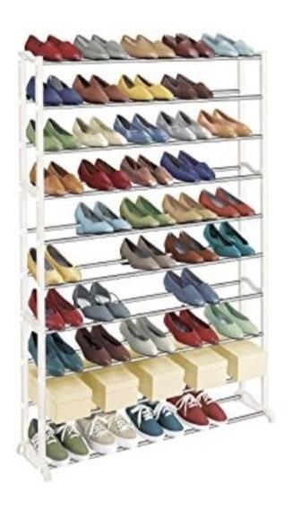 Sapateira 100 Calcados 50 Pares De Sapatos 10 Andares Metal