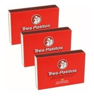 Fósforos Tres Patitos Caja 222 Unidades X 3