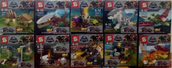Dinossauros Jurassic World Compatível Lego Kit Com 10 Caixas