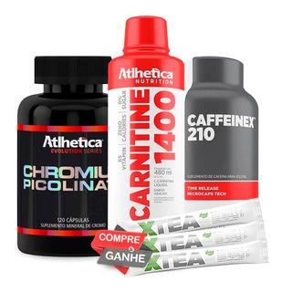 L-carnitina + Picolinato De Cromo + Cafeína - Atlhetica