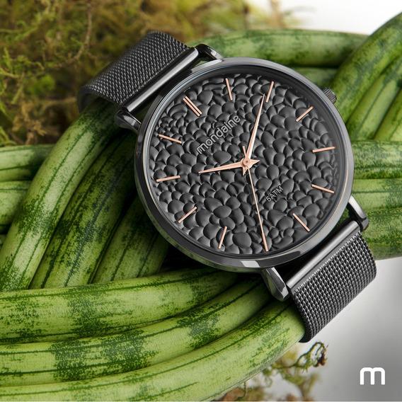 Relógio Feminino Mondaine Texturizado Malha 53764lpmvse1