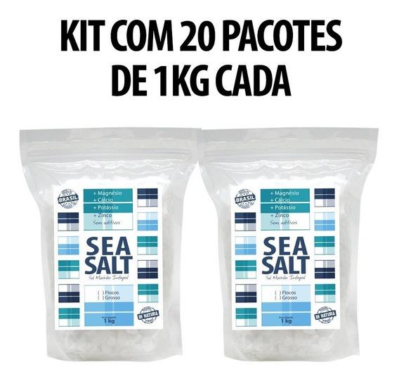 Sea Salt Sal Marinho Grosso In Natura (20 Kg)