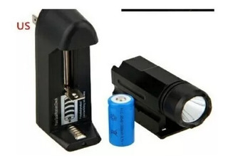 Lanterna Tática P/ Pistola + Bateria + Carregador Picantiny