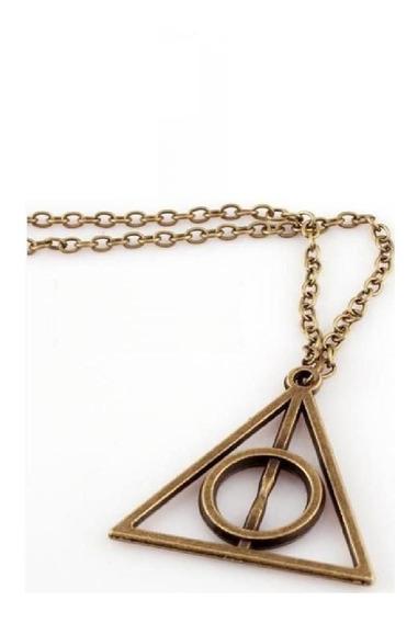 Harry Potter Colar Com Pingente Reliquias Da Morte