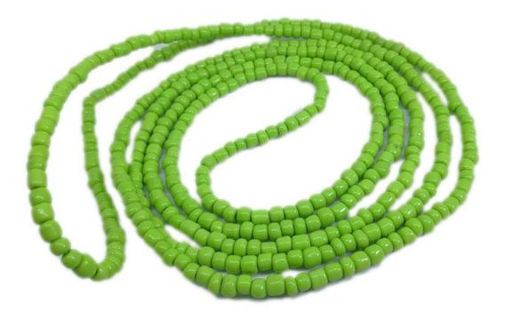 Colar Guia De Miçanga Verde Orixá Oxóssi