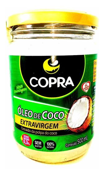 Vidros Óleo De Coco Extra-virgem 500ml - Copra 2 Unid.