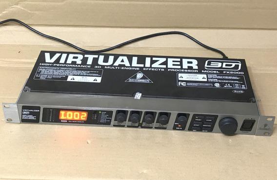 Rack Behringer Virtualizer 3d Fx2000 Multi Efeitos - Usado!