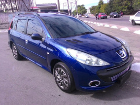 Peugeot 207 1.4 Sw Xr 2009 Azul
