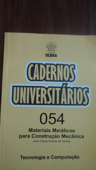 Caderno Universitário - Materiais De Construção Mecânica
