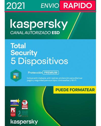 Imagen 1 de 4 de Kaspersky Total Security 5 Pc 1 Año Licencia Original