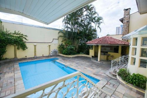 Imagem 1 de 30 de Imob01 - Casa Sobrado 480 M² - 3 Dormitórios - 1 Suíte - Chácara Inglesa - São Bernardo Do Campo/sp - So0083