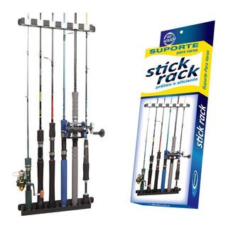 Suporte Expositor P/ 6 Varas De Pesca Stick Rack Cardume