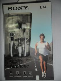 Fone Ouvido Sony Sport Earphone E14 Stéreo P/celular Branco