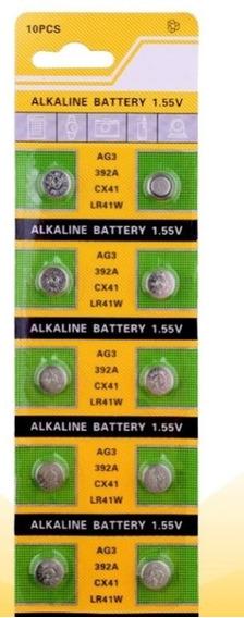 Bateria Botão Ag3 Lr41 392a Tmi 2-cartelas C/10-unidades