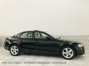Audi A4 Ambiente 2.0 2013 Preto Teto Solar Interior Caramelo