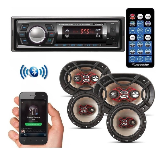 Kit Som Automotivo Bluetooth Auto Falante Bravox 6 + 6x9 69