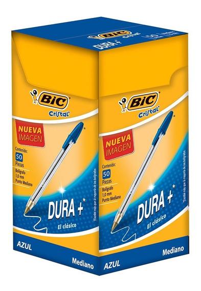 Bic Boligrafo Dura+ Tinta Azul Caja Con 50 Pz
