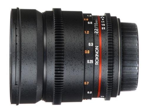 Lente Rokinon 16mm T2.2 P/ Nikon