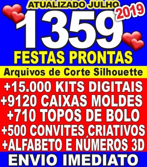 Kit Festa Arquivo P/ Corte Silhouette + 300 Topo De Bolo