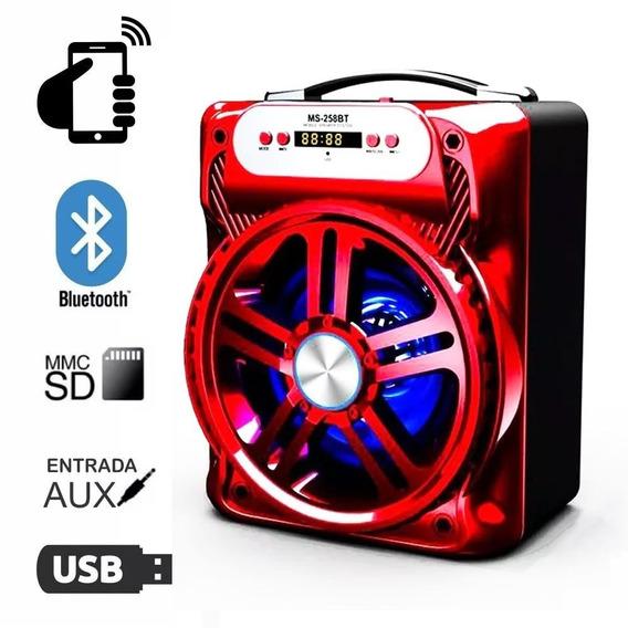Caixa Caixinha De Som Bluetooth Portátil Amplificada 258bt