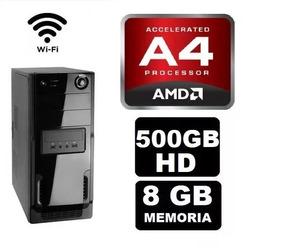 Cpu Gamer Barata Amd A4 6300 4gb Hd500 Radeon 2gb Fonte 500w