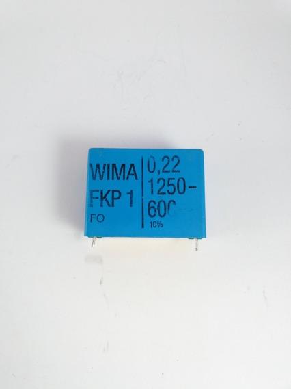 Capacitor 0,22uf 1250vdc 600vac Wima Fkp1 Polipropileno Fkp