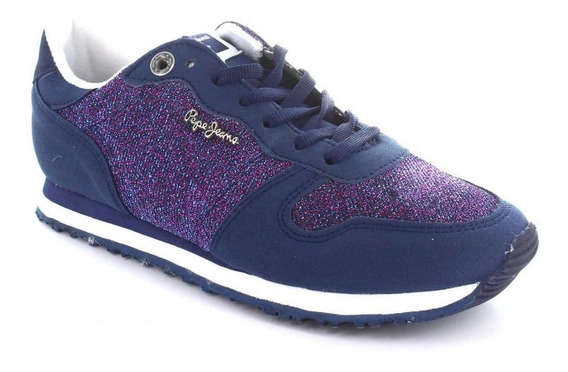 Tenis Para Mujer Pepe Jeans 5401-049912 Color Azul