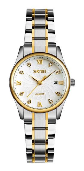 Skmei 9101 Relógio Homens Marca De Quartzo Aço Inoxidável