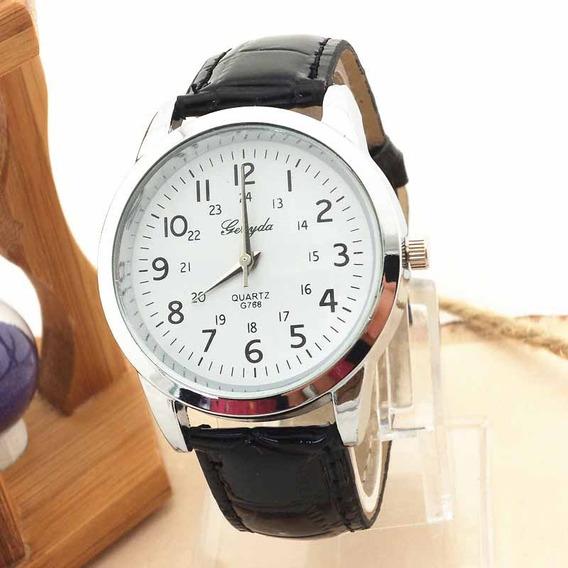 Relógio Unisex Pulseira De Couro Luxo