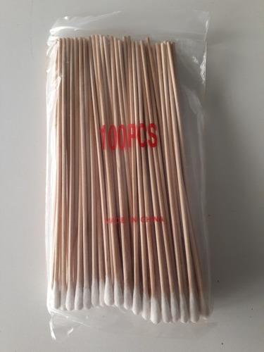 Hisopos Largos 15 Cms No Esteriles Paquete De 100