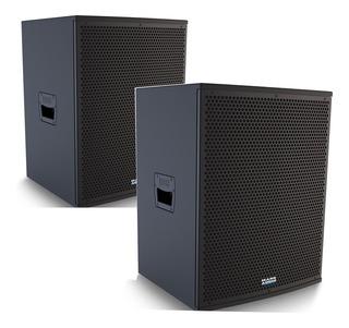 Kit Caixa Ca1200 E Cp1200 Ativa+passiva Mark Audio Attack 15