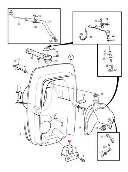 3862171 Suporte Anodo Espelho Popa Dpx/ Dpe Volvo Penta