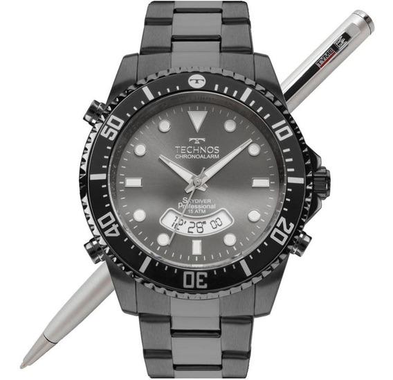 Relógio Technos Masculino Skydiver Grafite T205je/4p C/ Nfe