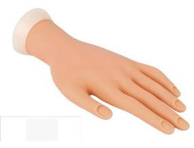 Mão Treino Manicure Unha Acrigel Porcelana Fibra Uv Led