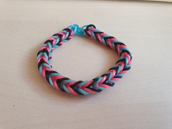 Pulseira Elastico 21 - Rainbow Loom 7 Unidades Coloridas