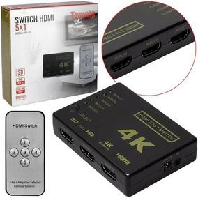 Switch Hdmi 1.4 5 Entradas E 1 Saída Mtv-151 Tomate
