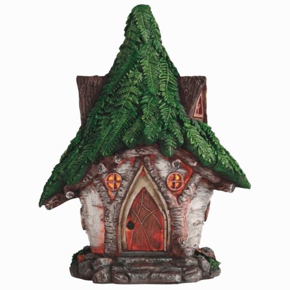 Figura Lámpara Solar Casa De Hadas O Duendes Del Bosque Magico