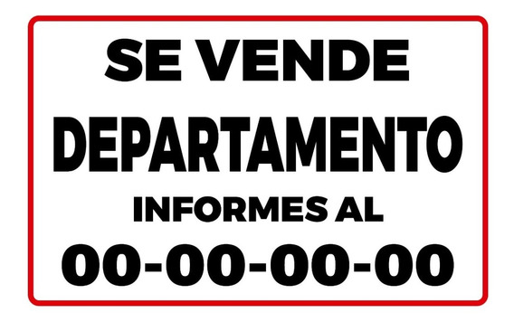 Lona Se Vende Inmueble 100x150 M. Con Tu Numero Impreso