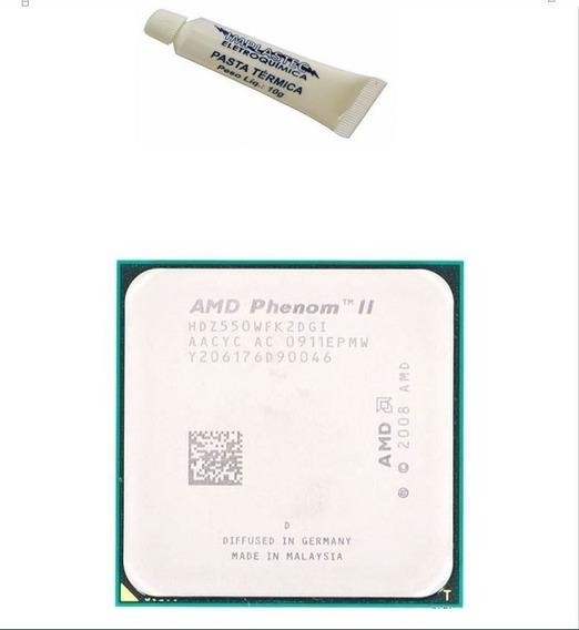 5 Processador Phenom Athlon Ii X2 550 3.1ghz Am2 Am3 + Pasta